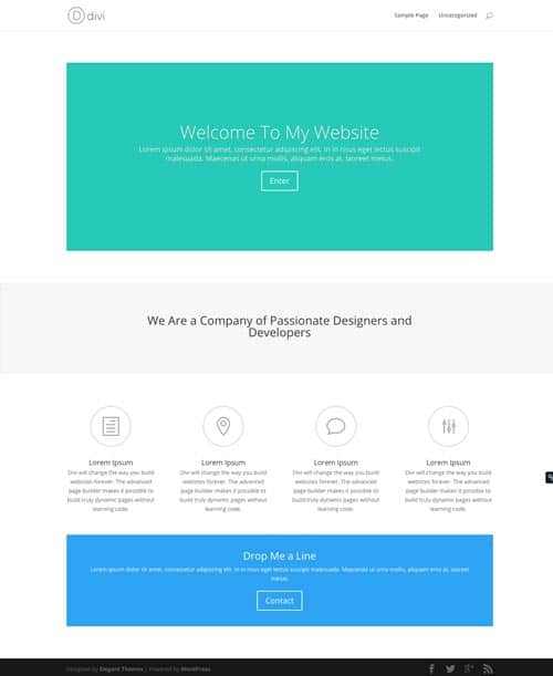 Divi Premade Page Layouts - Mad Lemmings