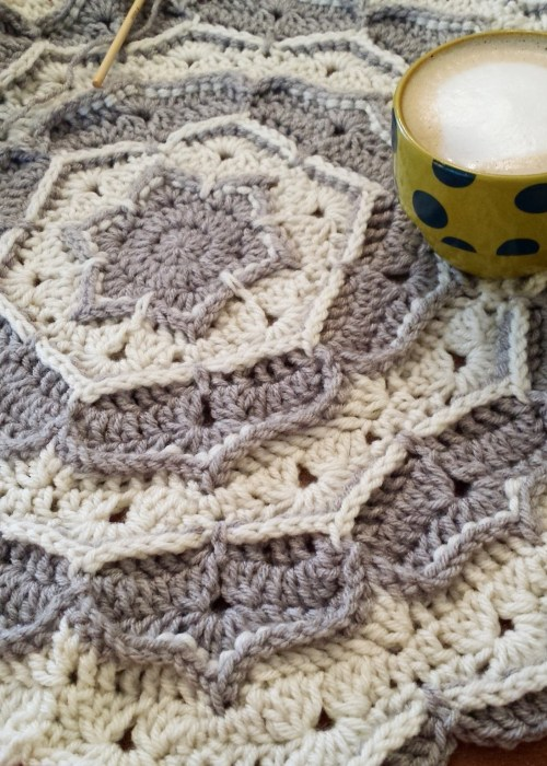 Concentric Circles Crochet Blanket