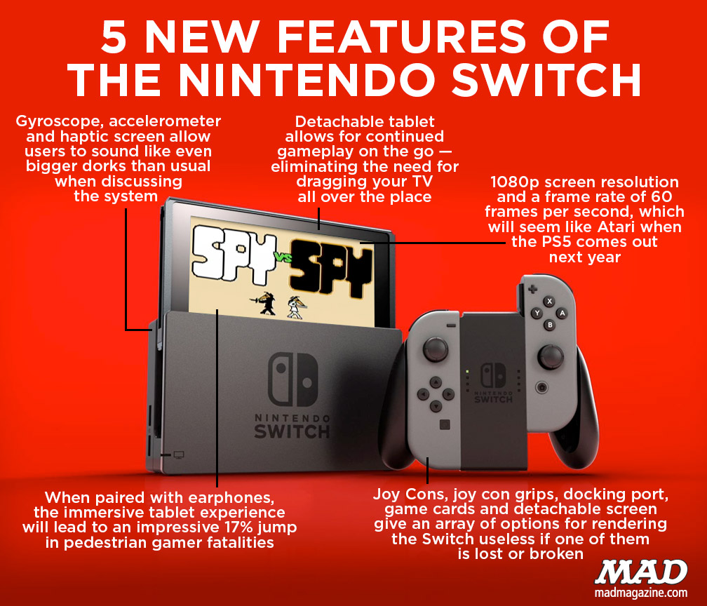 Console Magazine 5 New Features Of The Nintendo Switch Mad Magazine