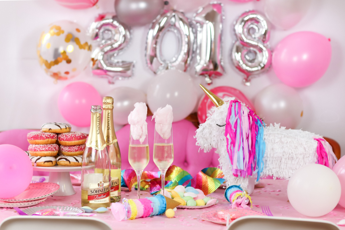 Dekoideen Party Candy Cotton Drinks Rezept – Geniale Silvester Party Deko