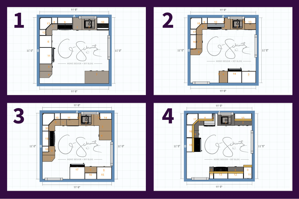Kitchen Plans Potential Kitchen Floor Plan Options Madness And Method