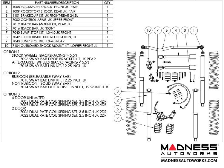 Jeep - Jeep Wrangler JK True Dual-Rate Lift Kit - 25\
