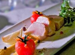 Tiburón (marrajo) en Tataki, la cocina de Surtopía