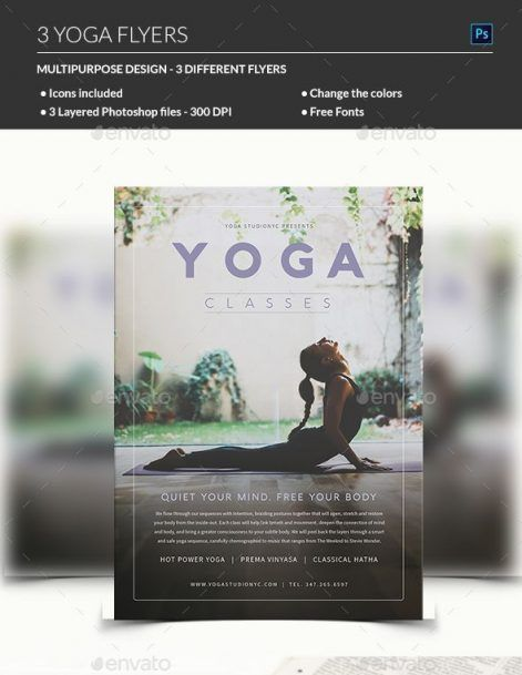 Yoga Flyer - MadridNYC - yoga flyer