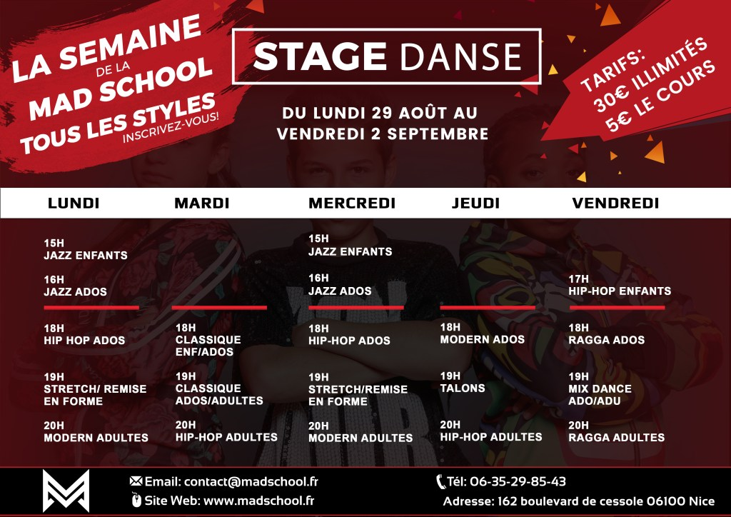 SEMAINE STAGE MAD SCHOOL