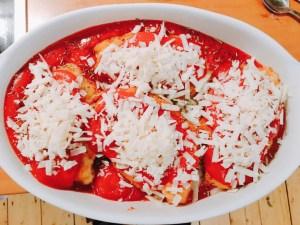 Hähnchenbrust gefüllt mit Mozzarella