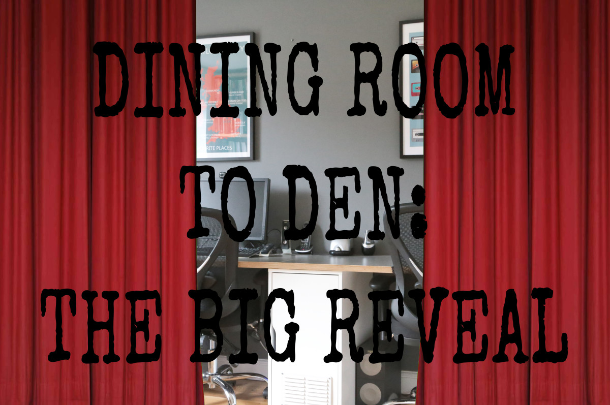 From dining room to den: Our 'Ikea hack' study, part 1.