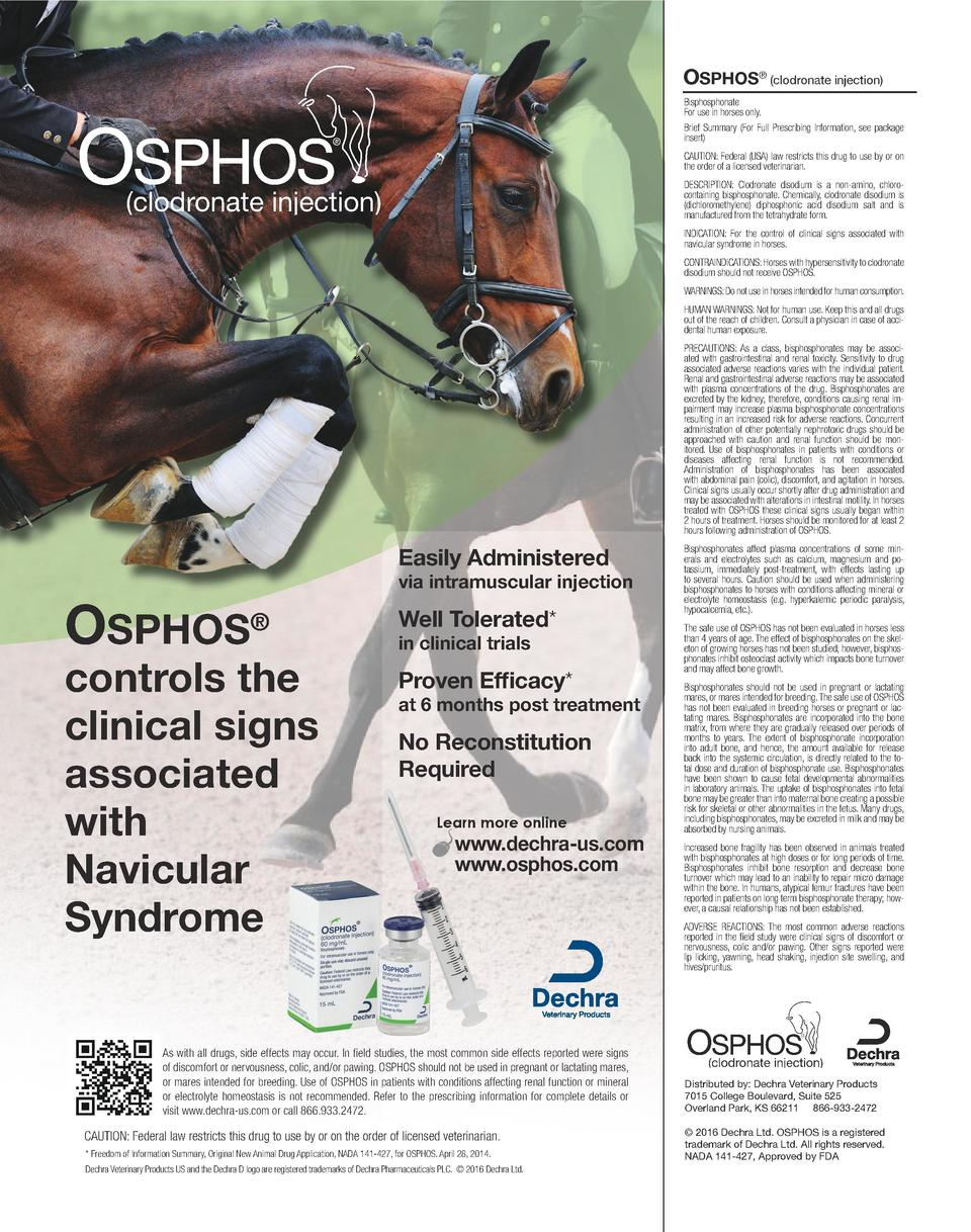 Osphos clodronate injection bisphosphonate for use in horses only brief summary for full prescribing information