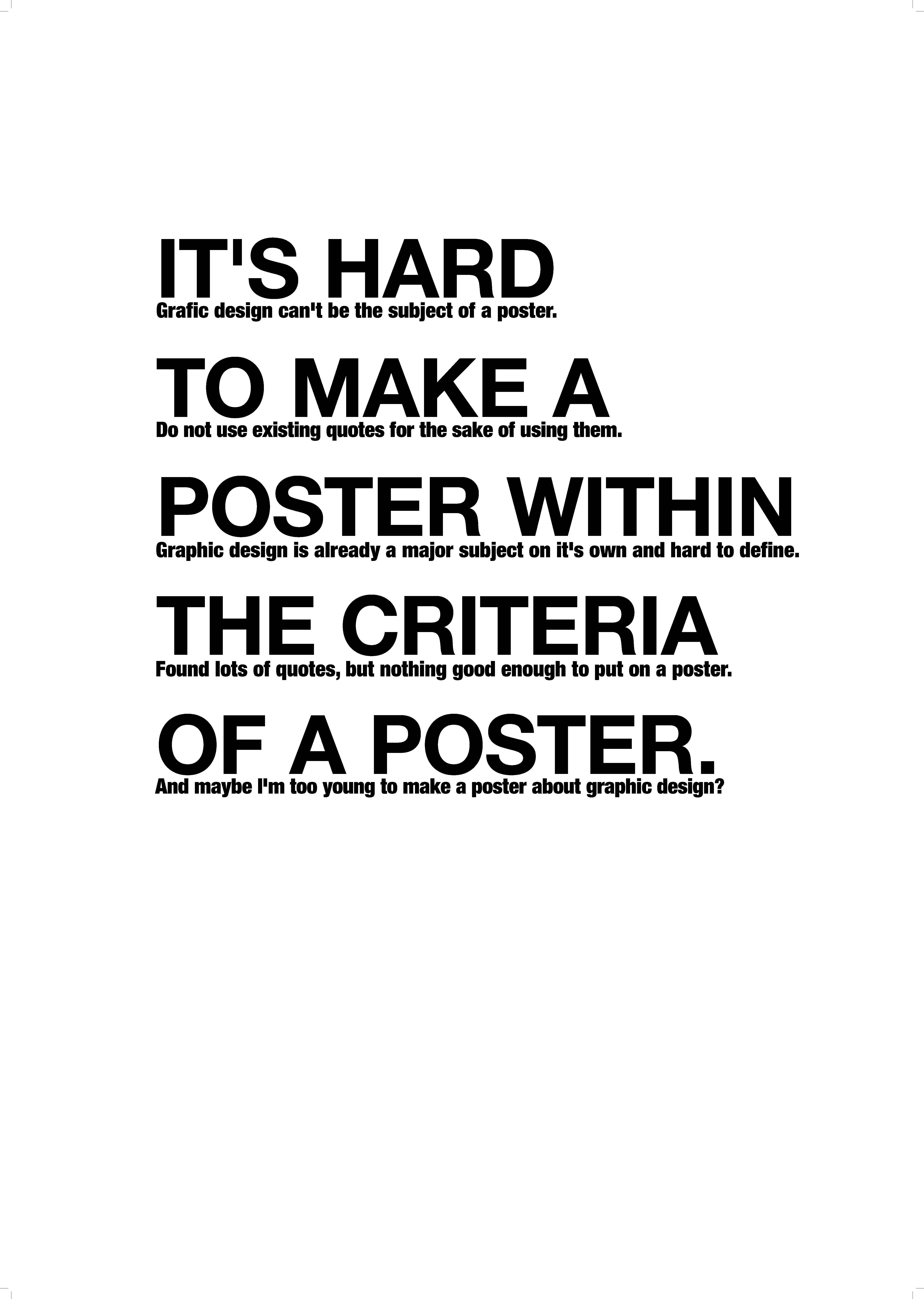 Poster design quotes advertisements