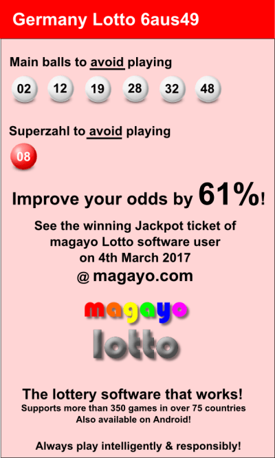 Lottery Tips for German Lotto 6aus49 – Play any lottery intelligently!