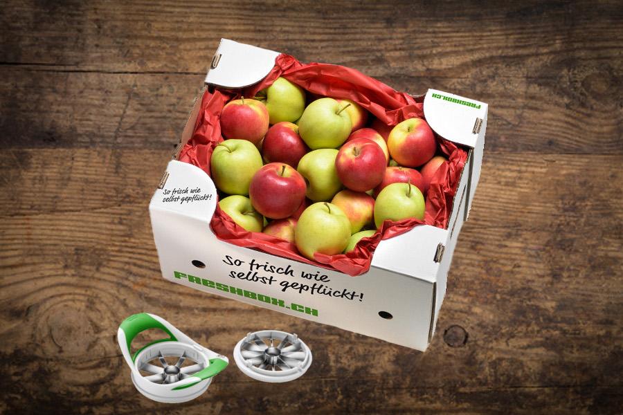 Apfelbox mit Apfelschneider | Magazin Freshbox