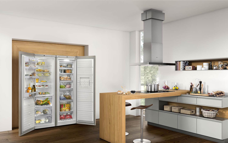 Side By Side Kühlschrank Freistehend : Side by kühlschrank in küche integrieren freistehenden side by