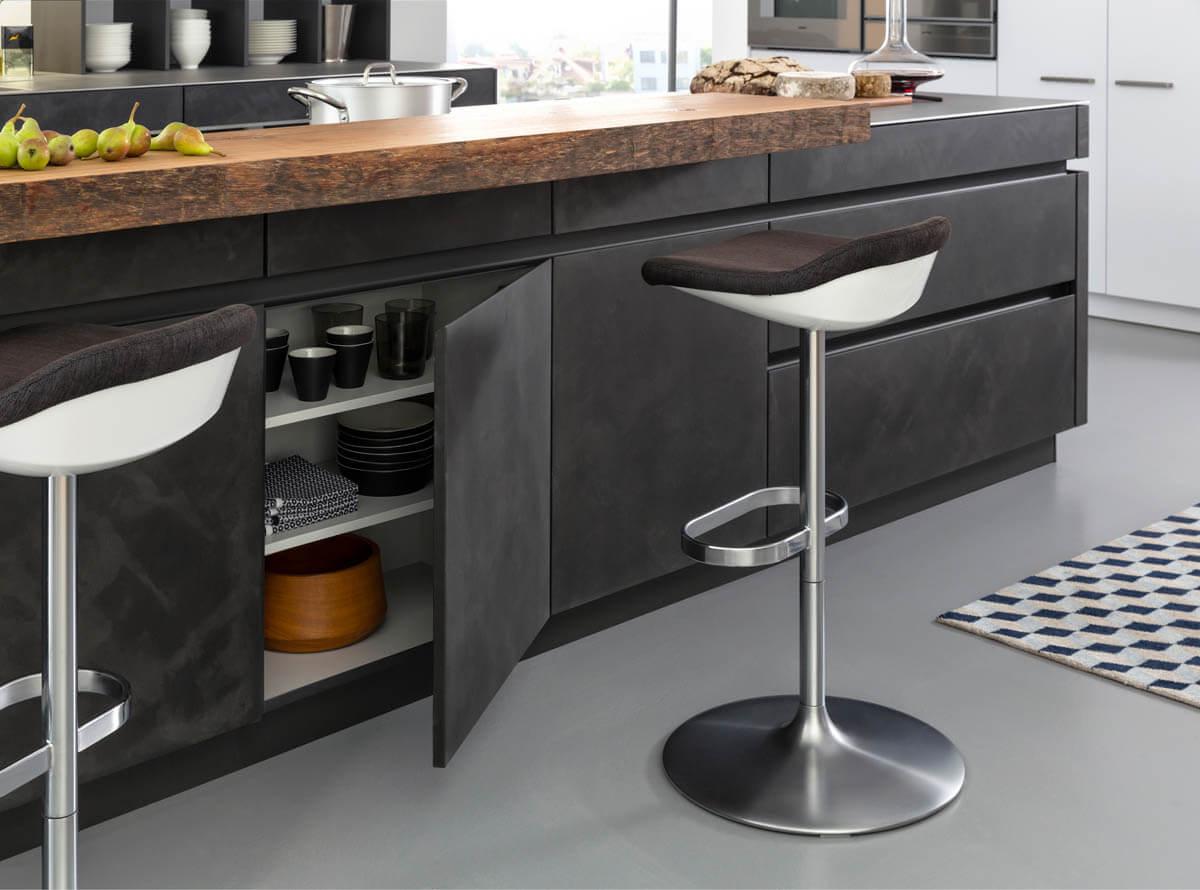 Popular Holz Betonoptik Küche   Küche Weiß Holz Beton NI01