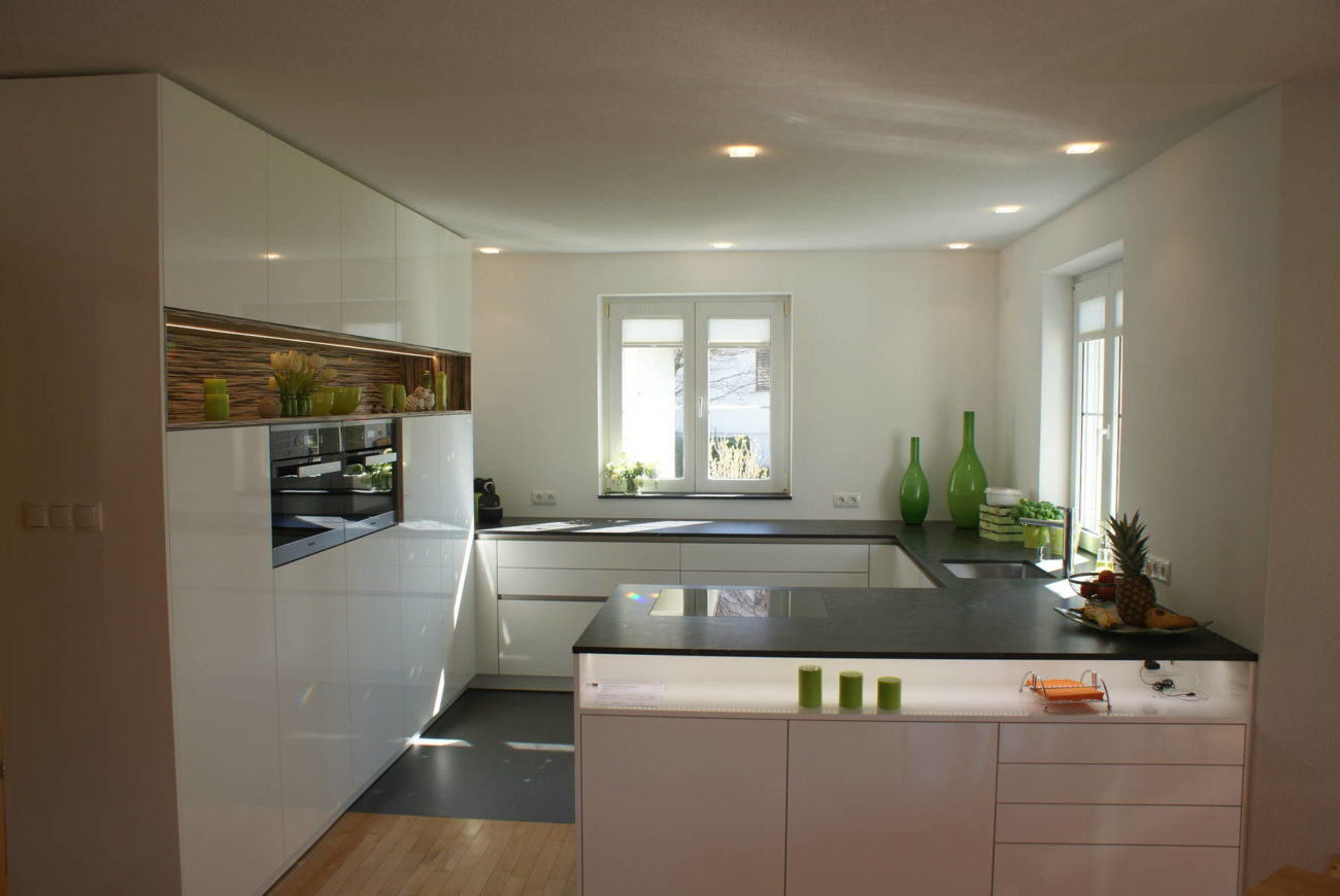 U Küche Modern Küche Modern Mit Altholz Laminat In Der Küche