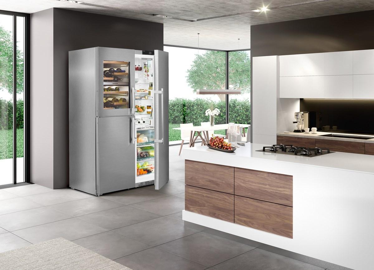 Side By Side Kühlschrank Verkleiden : Küche mit kochinsel und side by side kühlschrank küche mit