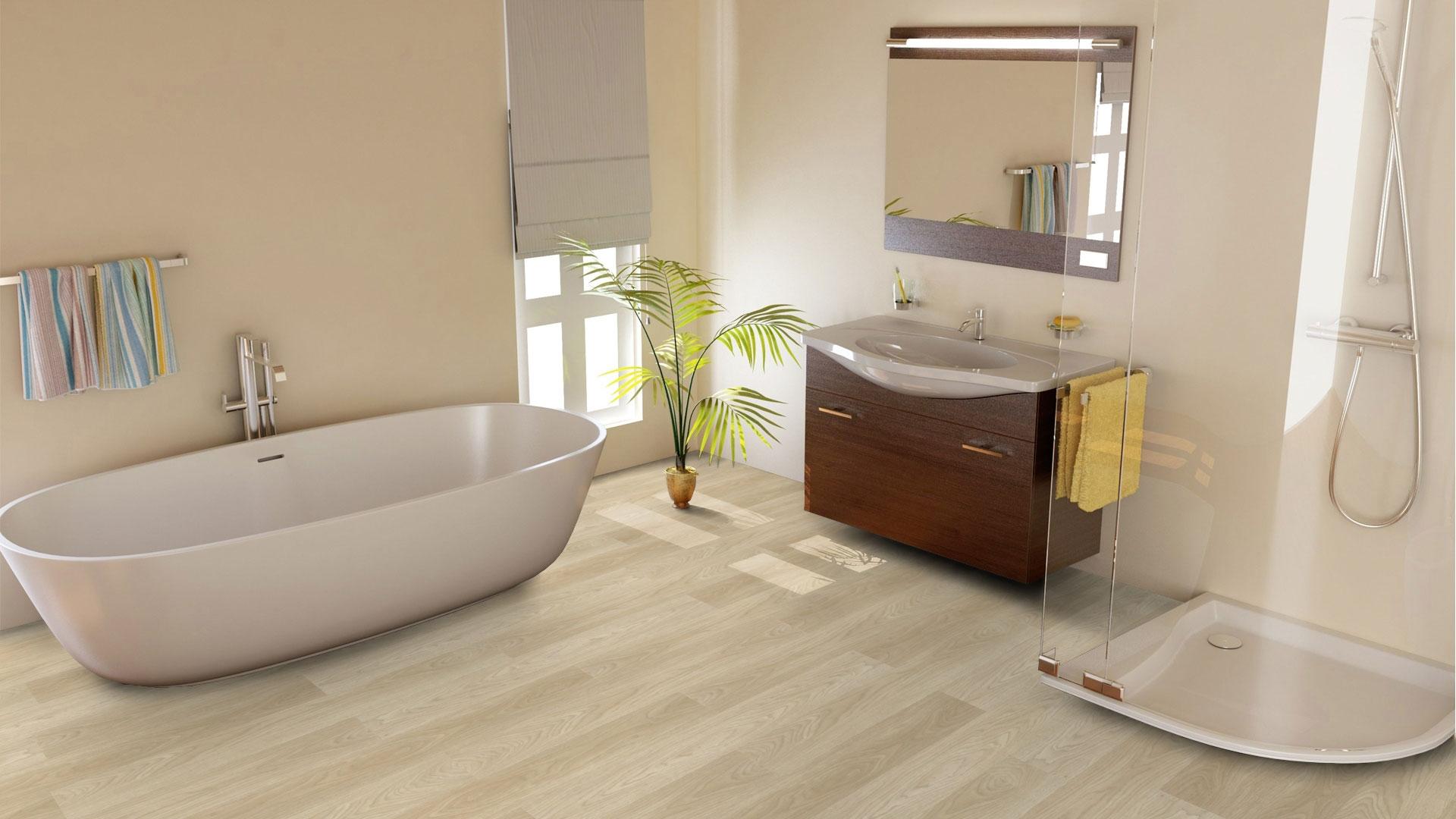 Boden Für Küche Und Bad | Alternative Zu Fliesen Im Bad Boden ...
