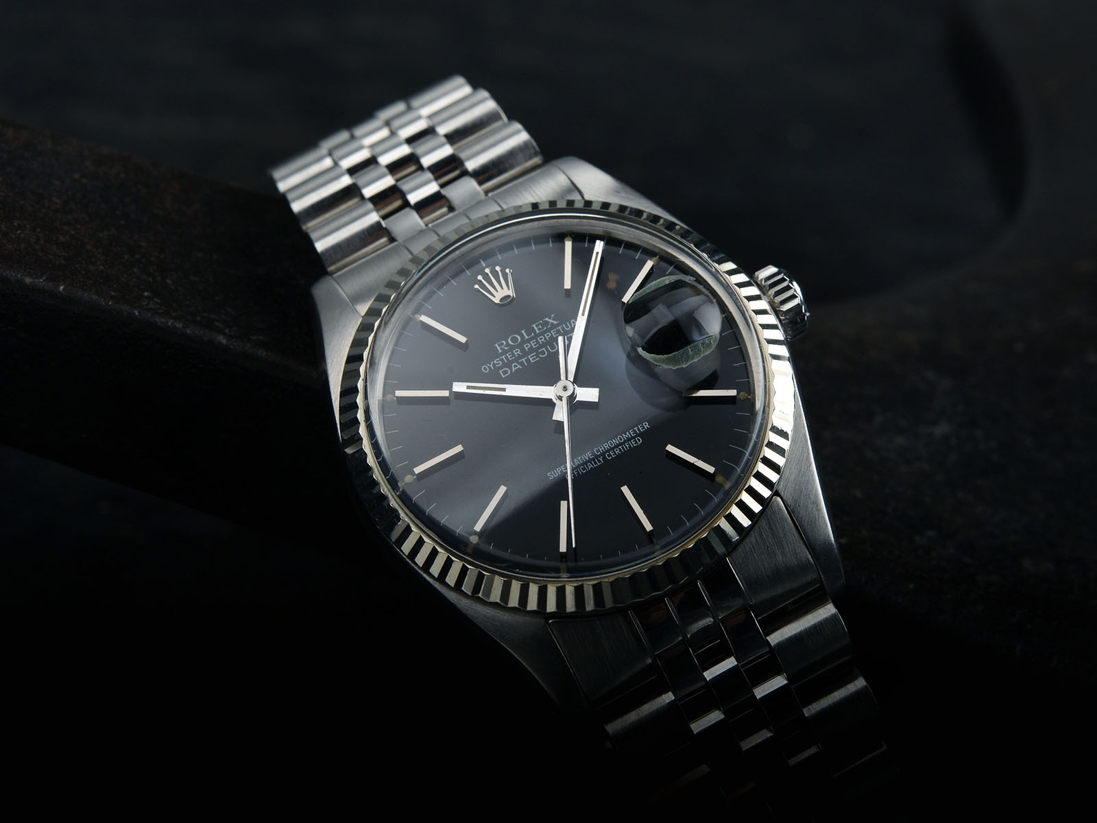 Black Rolex Gloss Black Dial Rolex Datejust 16014 Bulang And Sons