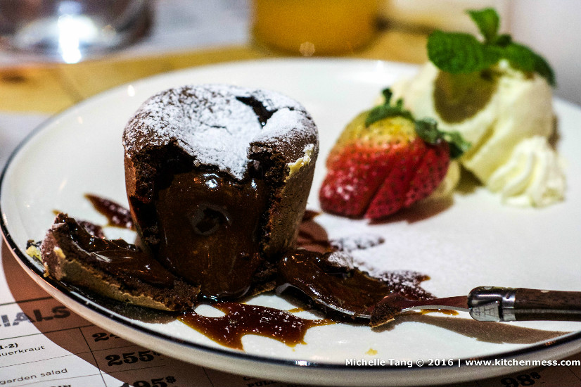 The rich but oh-so-delightful Warm Chocolate Pudding.