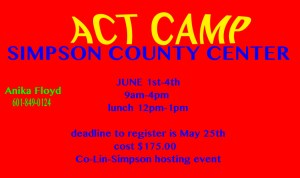 ACT CAMP @ Simpson County Technical Center