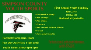 Simpson County Youth Fun Day @ YOUTH FUN DAY | Mendenhall | Mississippi | United States