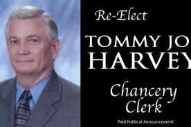 Tommy Joe Harvey seeks re-election as Chancery Clerk Copy