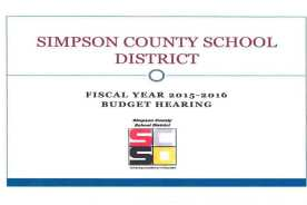 SCSD Fiscal Year 2015 – 2016 Budget Hearing