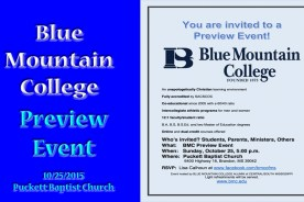 Blue Mountain College Preview Event