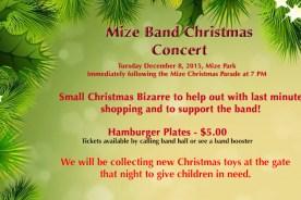 Mize Band Christmas Concert