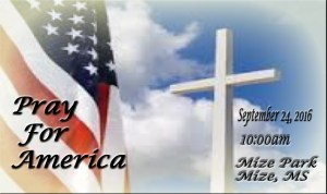 Pray For America @ Mize @ Pray For America | Mize | Mississippi | United States