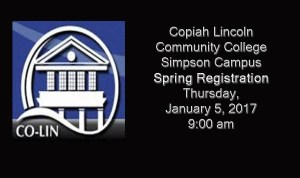 Co-Lin Simpson Campus to hold Spring Registration