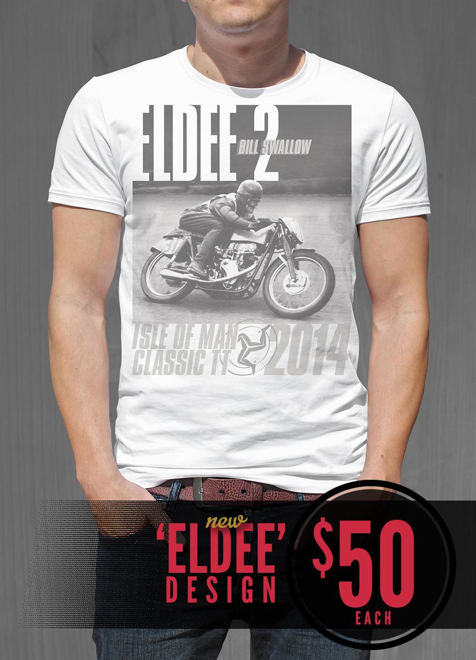 Eldee velocette eldee 2 les diener racing design t shirt design front
