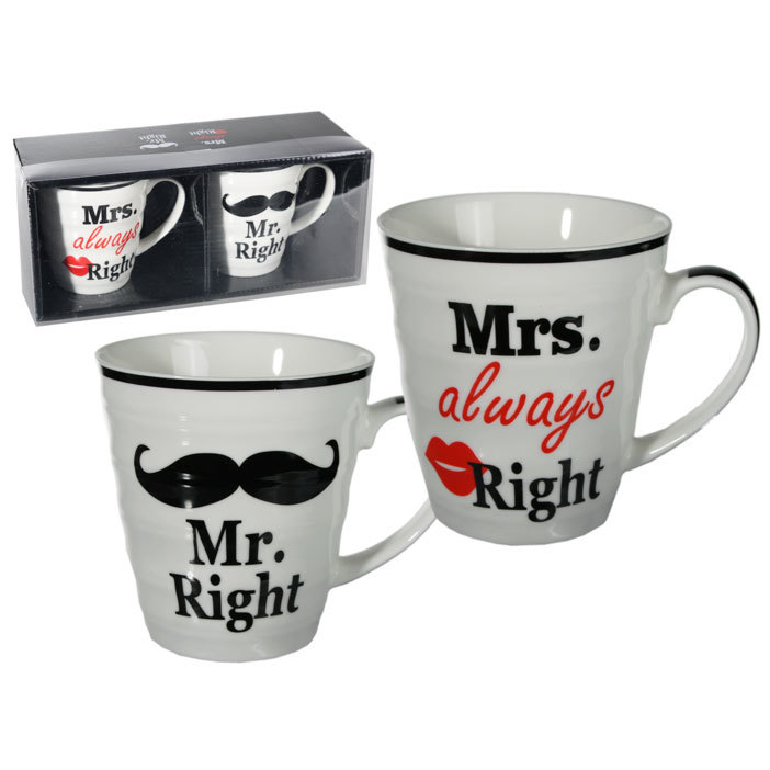 Coole Tassen Porzellan Tassen Mr Right Mrs Always Right Im Set