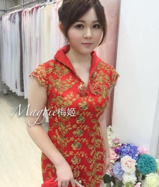 [媽媽裝]復古改良式旗袍