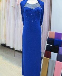 媽媽禮服,亮寶藍,水晶亮片,晚禮服