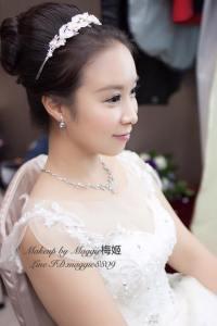 新秘,台北新秘,白紗造型,晚禮服造型,送客造型,上海鄉村,六福皇宮婚宴