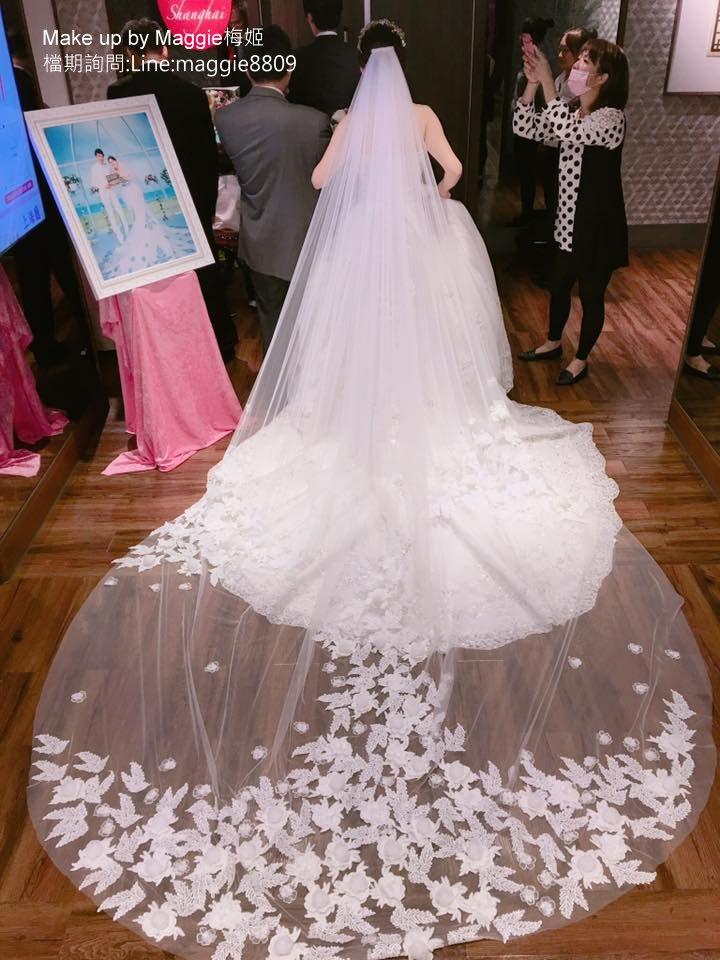新娘白紗進場長頭紗 (1)