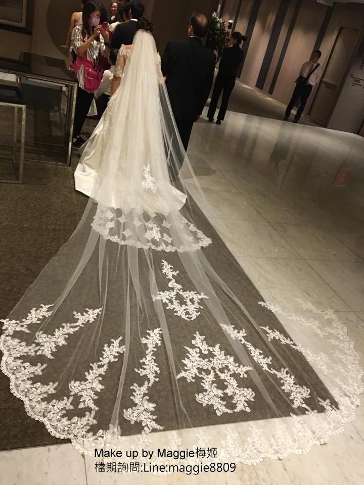 新娘白紗進場長頭紗 (16)