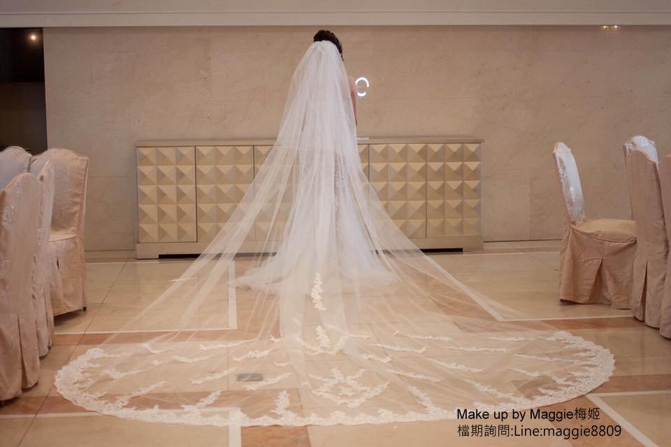 新娘白紗進場長頭紗 (19)