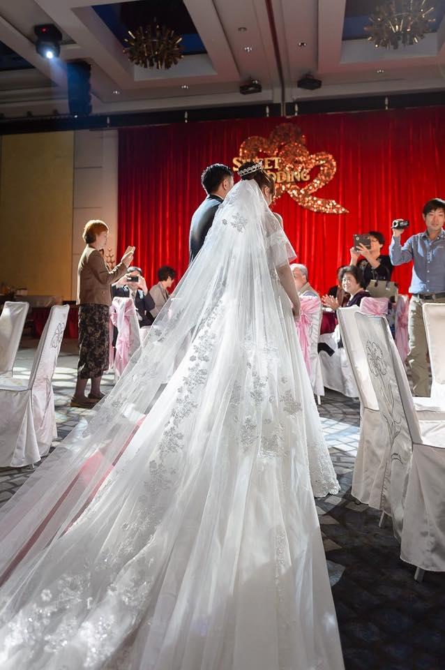 新娘白紗進場長頭紗 (41)