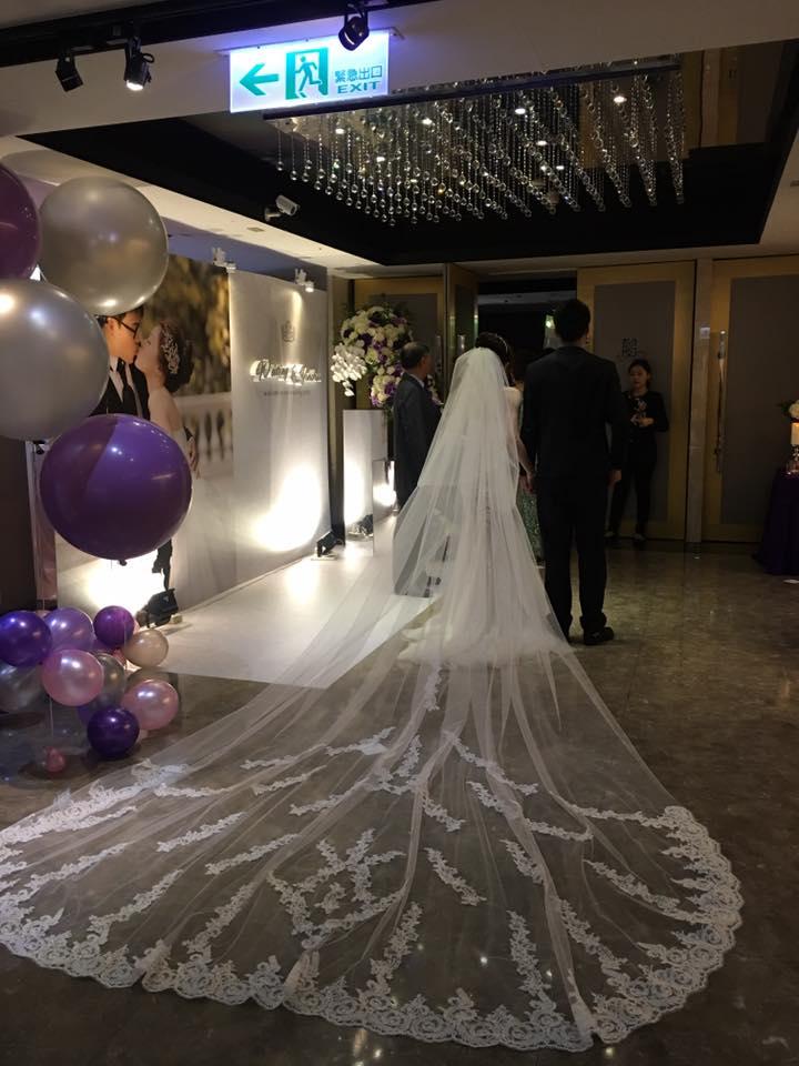新娘白紗進場長頭紗 (44)