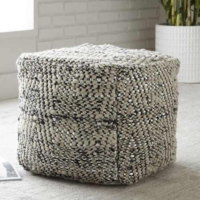 herringbone-metallic-wool-pouf-c