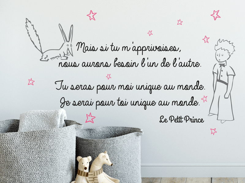 Maison Dessiner Sticker Citation Petit Prince - Magic Stickers