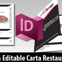 Descarga Plantilla Editable Carta Bar Restaurante A4