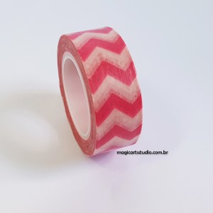 Washi tape chevron rosa