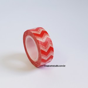 Washi tape chevron vermelha