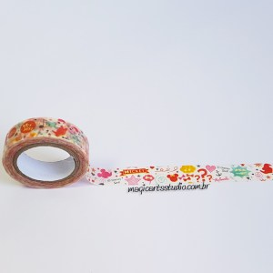 Washi tape decorada Mickey e Minnie