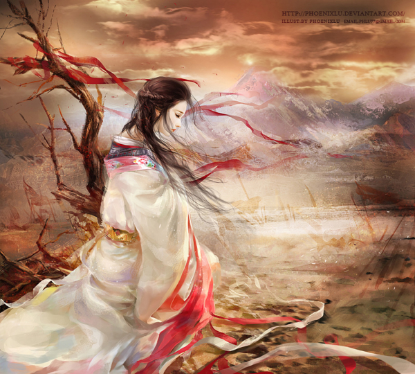 Beautiful Chinese Girl Painting Wallpaper Digital Illustrations By Phoenix Lu Magic Art World
