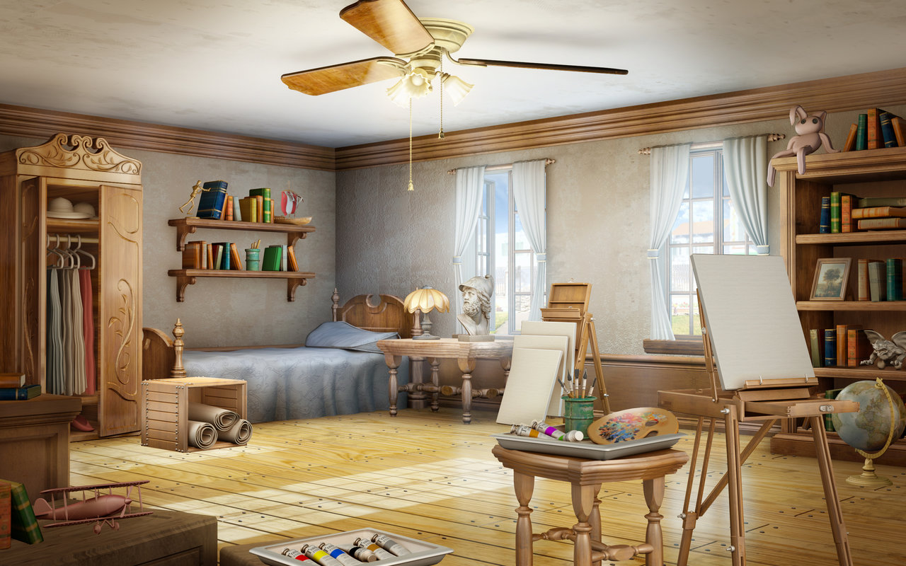 Bedroom Background Painting 3d Background Illustrations By Owen Carson Magic Art World