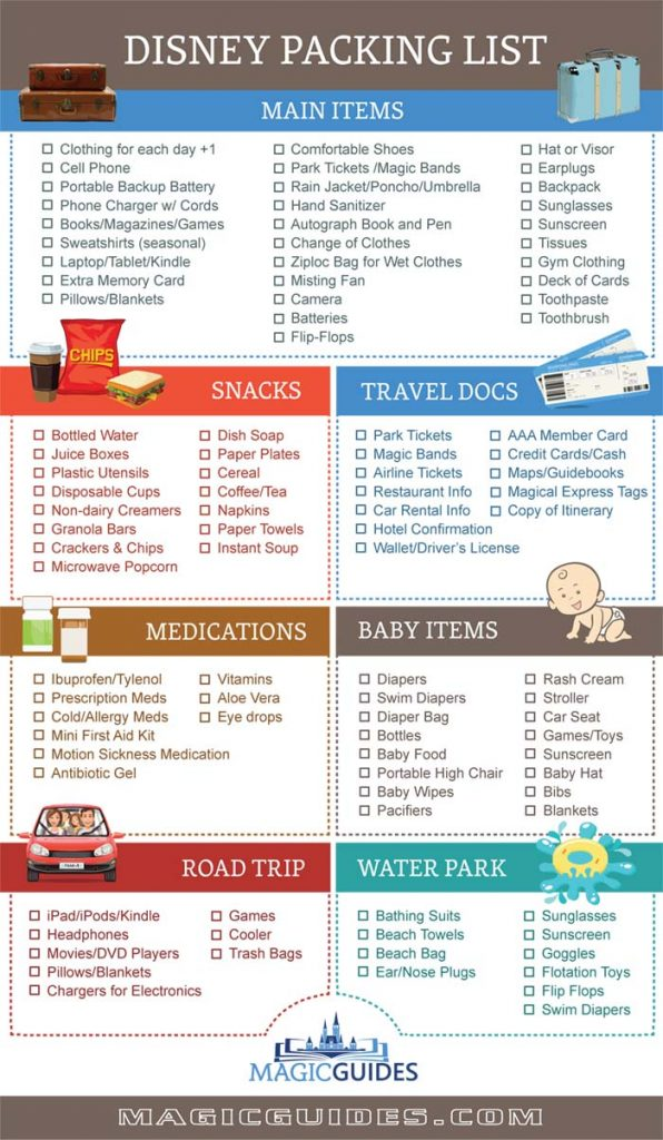 Disney Packing List (Tips What to Pack for Disney World Vacations)