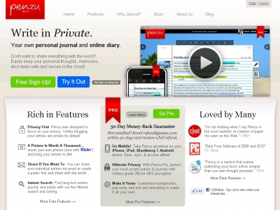 Penzu, your own personal journal and online diary Magic in Education!